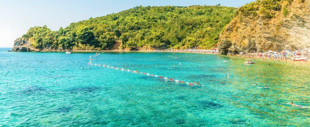 Пляжи Будвы Могрен