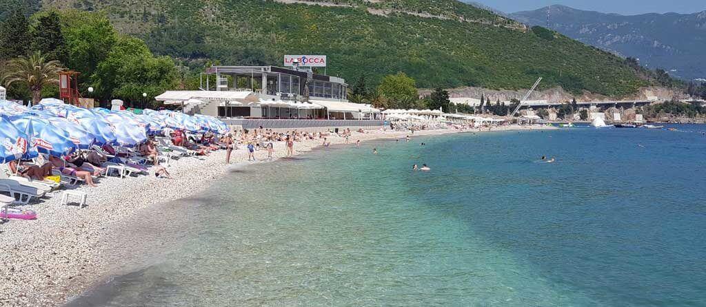 Будвы пляж Славянский