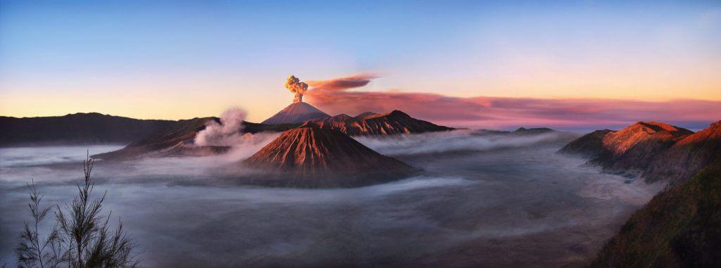 Индонезия вулкан