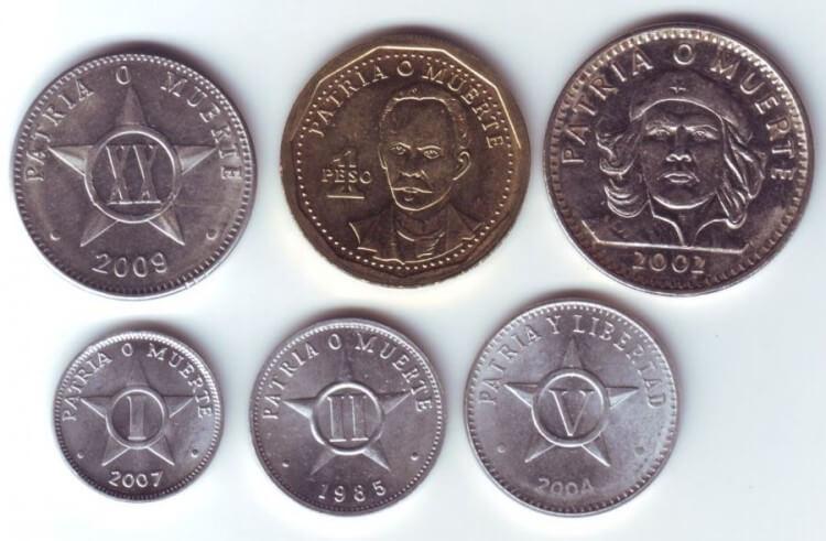 Валюта Кубы монеты